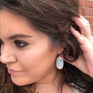 Jewelry - Cellulose blue drop earrings